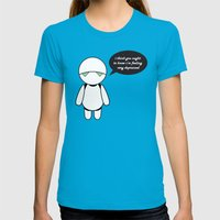 Marvin,  the Paranoid Android Womens Fitted Tee Teal SMALL