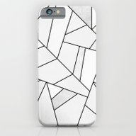 White Stone / Black Line… iPhone 6 Slim Case