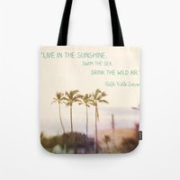 Sunshine, Sea, Air Tote Bag
