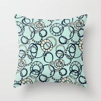 Honolulu hoopla pale blue Throw Pillow