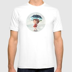 Happy umbrella Mens Fitted Tee SMALL White