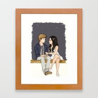Right Here Righ Now Framed Art Print
