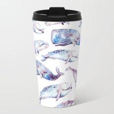 Watercolor Whales Travel Mug