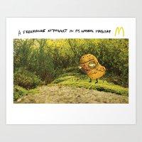 Free-range McNugget Art Print