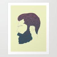 Man Style 01 Art Print