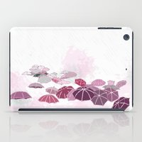 Rainy Day In Pink iPad Case