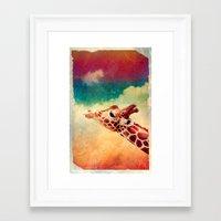 Giraffe - for iphone Framed Art Print