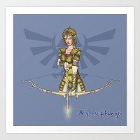 zelda Art Prints featuring Zelda by MythicPhoenix