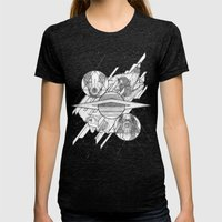 Ouroboros Womens Fitted Tee Tri-Black SMALL