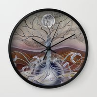 Winter In The Garden Of … Wall Clock