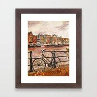 Going Dutch (red) Framed Art Print