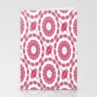 Ruby Mandala Tile Stationery Cards