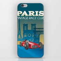 vintage race car iPhone & iPod Skin