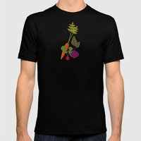 Vegetable Medley Mens Fitted Tee Black SMALL