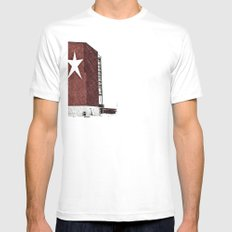 Star-Lite snow Mens Fitted Tee White SMALL