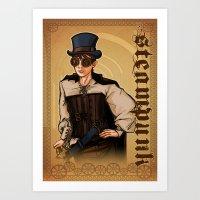 Steampunk Lady Art Print