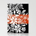Boxed White Bouquet Print Stationery Cards