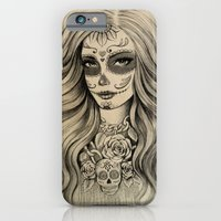 iPhone & iPod Case featuring Sugar Skull by Vivian Lau