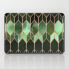 Stained Glass 5 - Forest Green iPad Case
