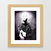 12 crows/ the nest Framed Art Print