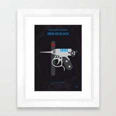 No586 My Men in Black minimal movie poster Framed Art Print