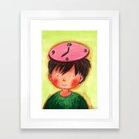 The Clock On My Head Framed Art Print