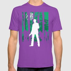 Alan Wake Mens Fitted Tee Ultraviolet SMALL