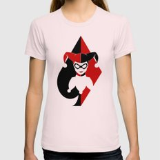 Harley Quinn Womens Fitted Tee Light Pink SMALL