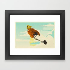 Like A Hood Ornament Framed Art Print