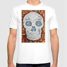 Galvanized Skull SMALL White Mens Fitted Tee