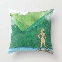 Explorer Girl Throw Pillow