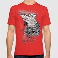 Cockatoo Mens Fitted Tee Red SMALL