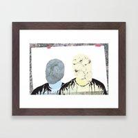 Two Of Me Framed Art Print