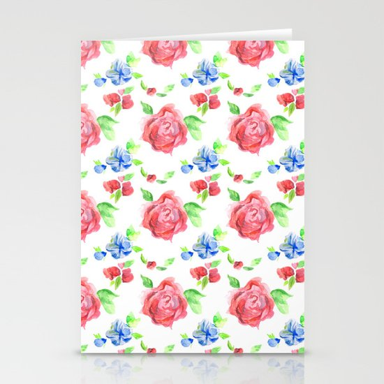 Summer Flowers Stationery Card