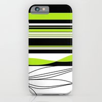 Green White Black Lines iPhone 6 Slim Case