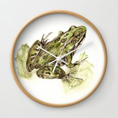 Northern Leopard Frog Wall Clock
