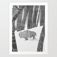 Martwood Bison Art Print