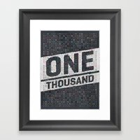 One Thousand Framed Art Print