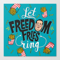 Let Freedom Fries Ring Canvas Print