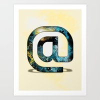 At Sign {@} Series - Silom Typeface Art Print
