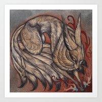 Nine Tailed Fox Art Print