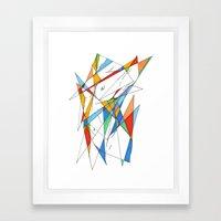 love is simple Framed Art Print