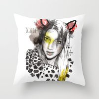 Bestia Throw Pillow