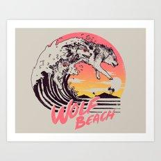 Wolf Beach Art Print