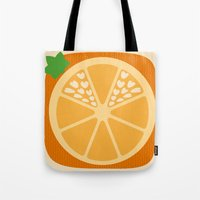 Orange Heart Tote Bag