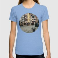 Old Town Womens Fitted Tee Tri-Blue SMALL