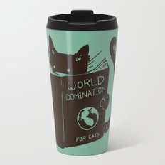 World Domination for Cats (Green) Travel Mug