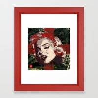 Pop Vamp Framed Art Print