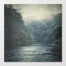 valley and river Canvas Print