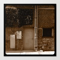 Electrical room. Canvas Print